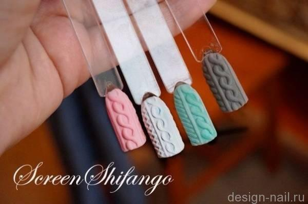 Свитер на ногтях дизайн